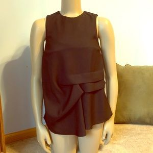 Topshop Black Ruched Gathered Tank